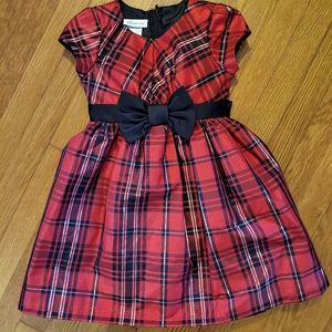 Bonnie Jean Girls Red Plaid Christmas Dress